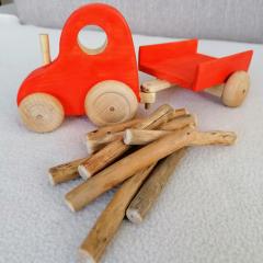 Drevené hračky: Malý traktor